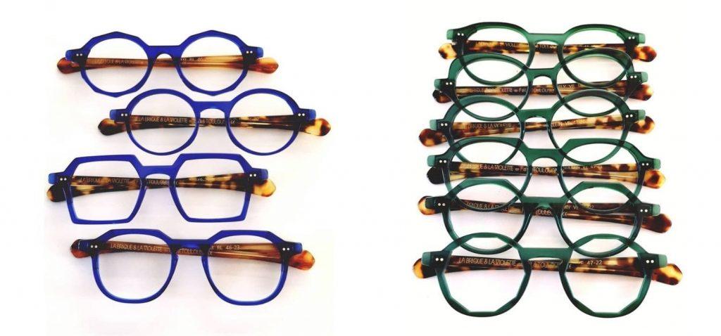 lunettes la brique et la violette